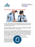 Answering Services for Security Companies